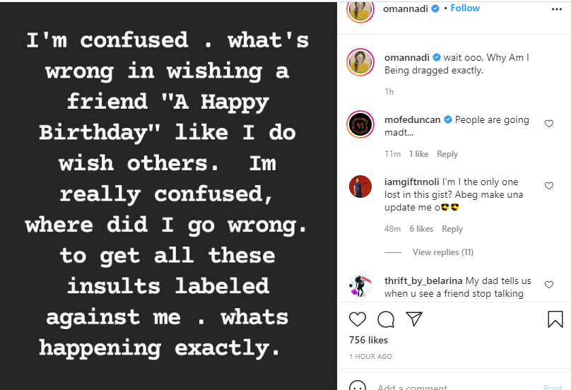 What's wrong in wishing a friend a happy birthday, where did I go wrong - Actress Oma Nnadi asks after being dragged for wishing Rosy Meurer a happy birthday 2