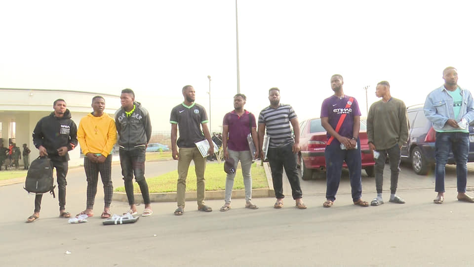 9 men arrested for fraud in Minna