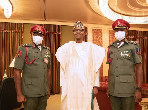 President Buhari's new ADC resumes duty