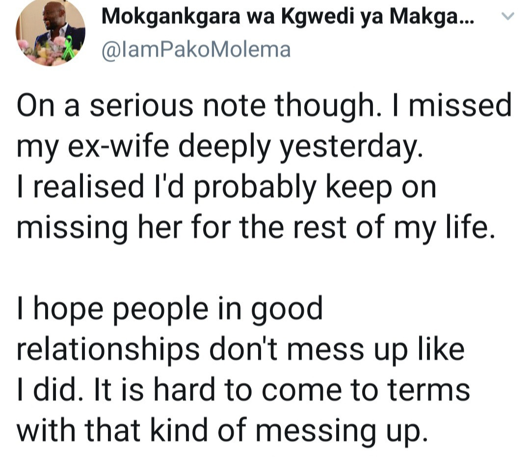 """""""Don't mess up like I did"""" - Man who messed up his marriage reveals he's missing his ex-wife as he advices men not to make same mistake"""