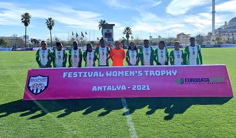 Super Falcons of Nigeria thrash Equitorial Guinea 9-0 to win Turkish Womens Cup