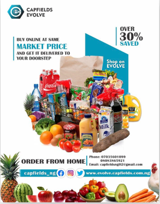 Shopping now nade easy on ''Capfields Evolve App'' Trust us to bring the market to your doorstep & Earn up to 150,000 naira monthly by becoming a ''Capfields Evolve Agent lindaikejisblog