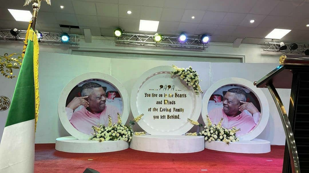 603793535bbef Tears flow as Peter Okoye's father-in-law is laid to rest (photos/video)
