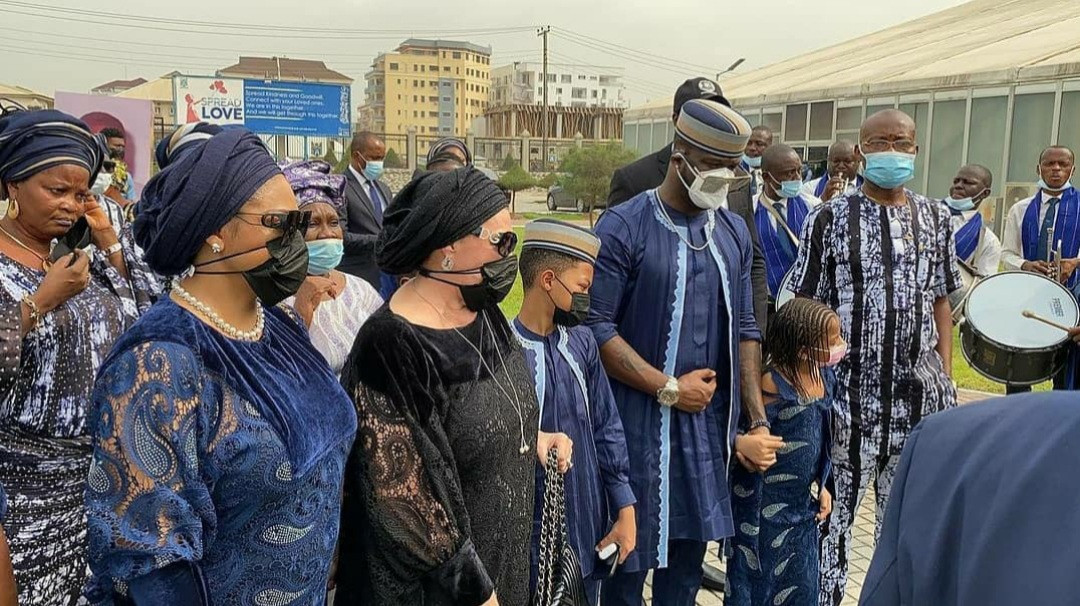 603793b59ff02 Tears flow as Peter Okoye's father-in-law is laid to rest (photos/video)