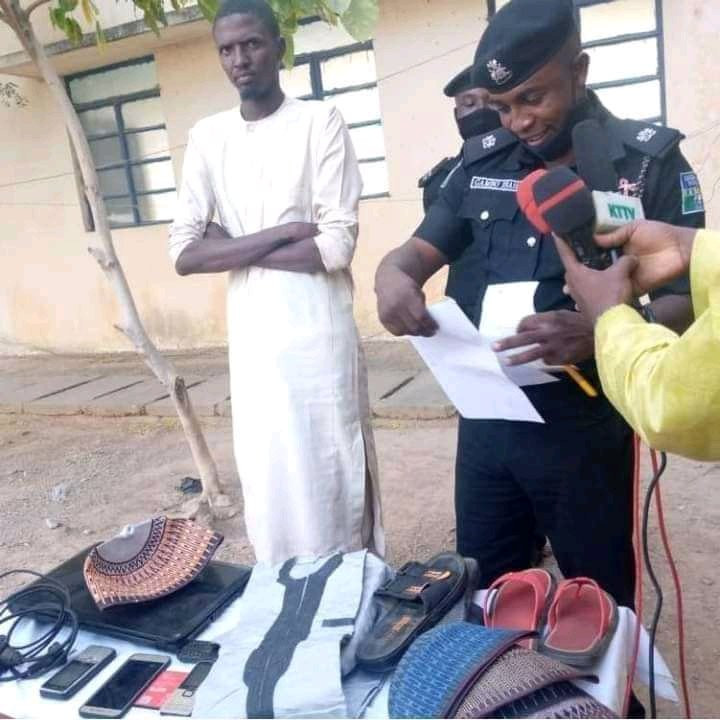 6037d2e0b5ac4 Man arrested for stealing valuables from his girlfriend's home in Katsina (photos)