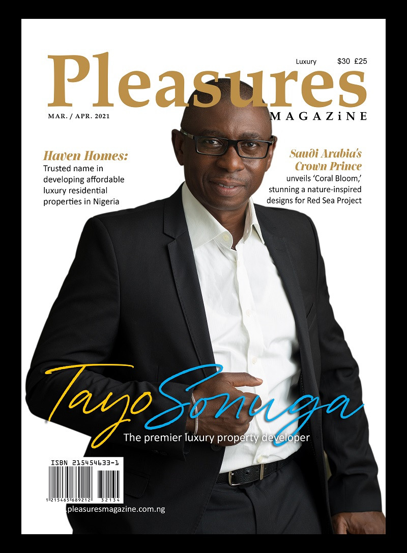 Championing affordable luxury properties in Nigeria: Haven Homes CEO Tayo Sonuga covers Pleasures Magazines March/April Issue lindaikejisblog1