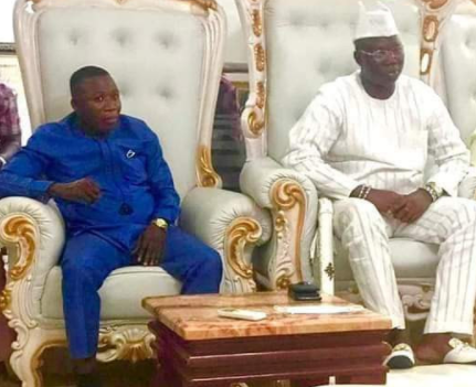 Yoruba activist, Gani Adams meets Sunday Igboho (photos)