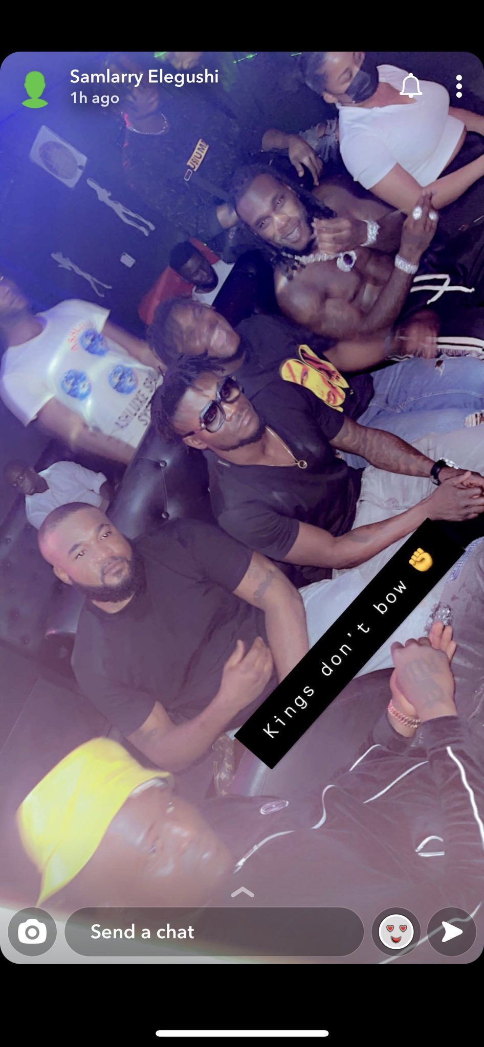 Rapper CDQ spotted at a club with Burna Boy and Obafemi Martins hours after he called out his colleague for 'disrespecting' the footballer (video)