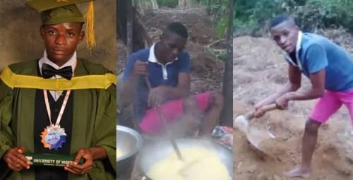 First-class Nigerian Mathematics graduate in viral farm photo bags PhD scholarship in US 1