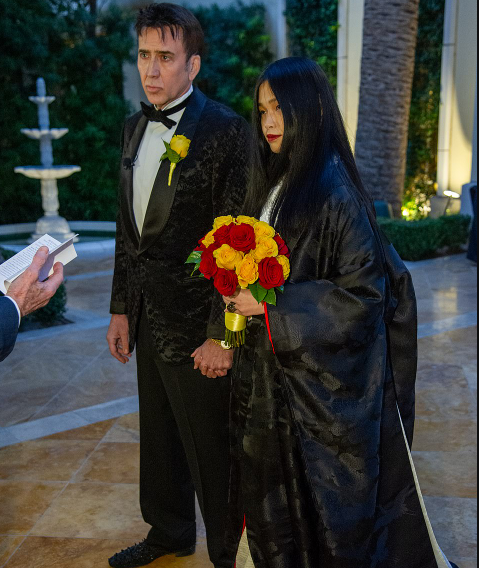 Nicolas Cage, 56, ties the knot for the 5th time with 26-year-old Japanese girlfriend Riko Shibata in Las Vegas (photos)