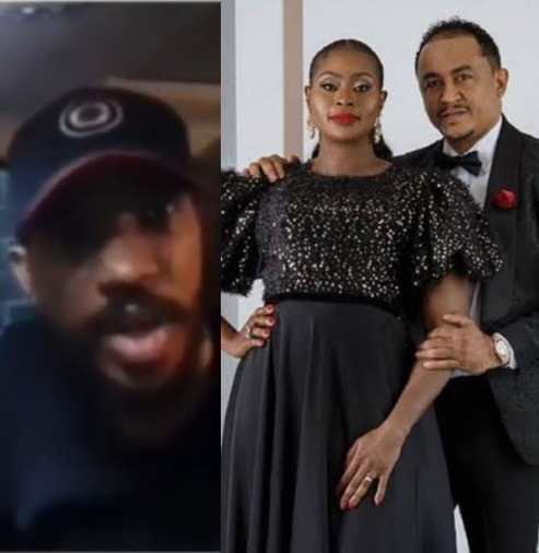 """""""How do we use our legal system to cheat our women?"""" Singer, Skuki Peeshaun questions court ruling on Daddy Freeze's partner, Benedicta Elechi's marital case (video)"""