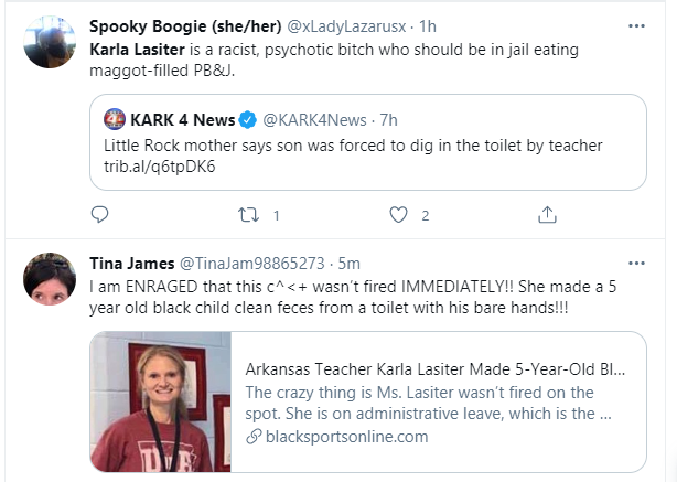 White teacher accused of forcing a 5-year-old black girl to wash a toilet with her bare hands 3