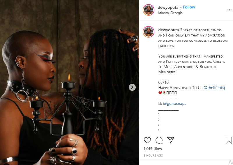 Charly Boy's daughter, Dewy celebrates third anniversary with lesbian partner 1