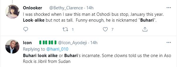 Nigerians react as President Buhari's look alike is spotted in Lagos 3