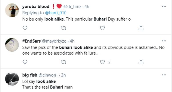 Nigerians react as President Buhari's look alike is spotted in Lagos 4
