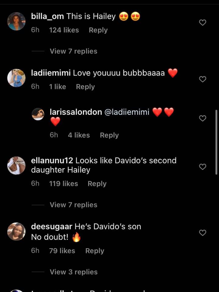 He looks like Davido and Hailey - Nigerians react as Davidos alleged fourth baby mama, Larissa London unveils her sons face 1