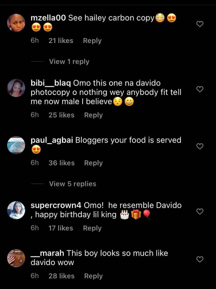 He looks like Davido and Hailey - Nigerians react as Davidos alleged fourth baby mama, Larissa London unveils her sons face 3