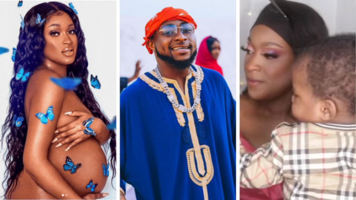 He looks like Davido and Hailey - Nigerians react as Davidos alleged fourth baby mama, Larissa London unveils her sons face 5