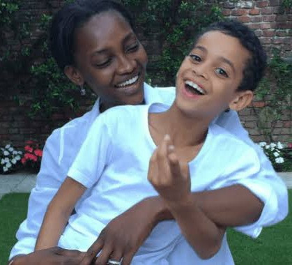 """""""It's beyond us"""" Nigerian supermodel, Oluchi Onweagba celebrates as her son is signed by McLaren Racing"""