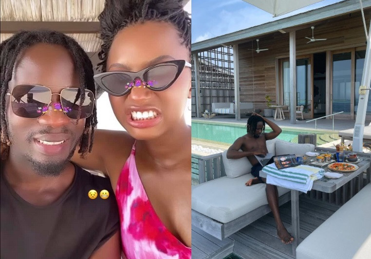 See Temi Otedola's reply as her boo Mr. Eazi plans to extend their romantic holiday at a private island