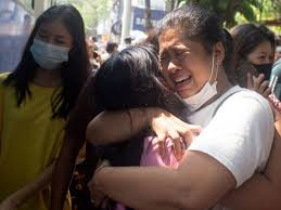 Myanmar protesters begin 'silent strike' forcing businesses/shops to close after soldiers killed 7-year-old girl in her father's arms