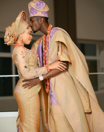 Actress Yetunde Barnabas and Footballer Peter Olayinka hold their wedding introduction 2