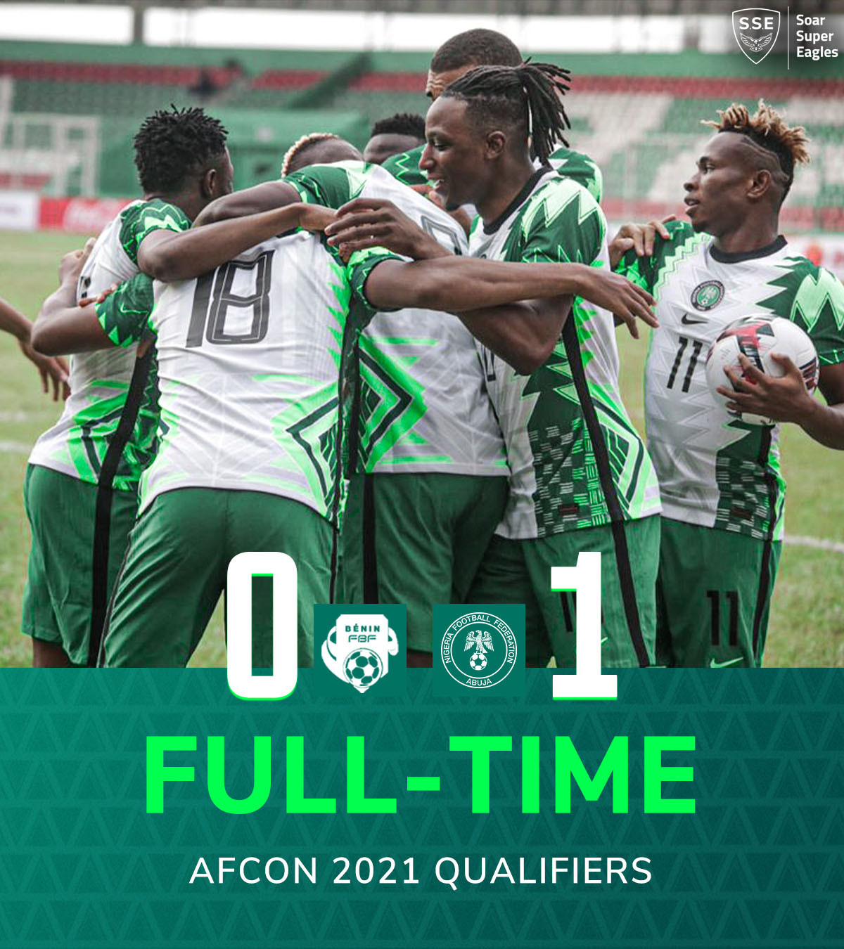 Paul Onuachu's goal helps Super Eagles defeat Benin 0-1 as Nigeria seal AFCON Qualification with a game to spare