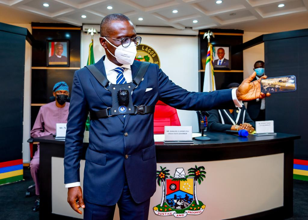 Governor Sanwo-Olu unveils body cameras to be worn by security personnel 3