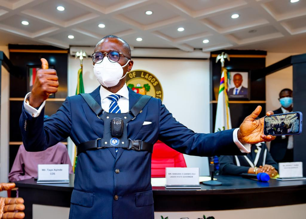 Governor Sanwo-Olu unveils body cameras to be worn by security personnel