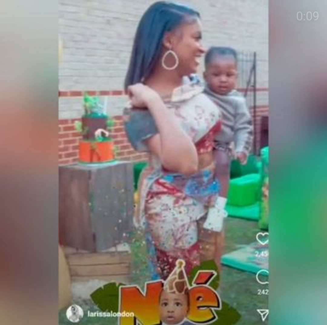 Davido's alleged fourth baby mama Larissa shares video from her son's birthday with Davido's songs playing in the background