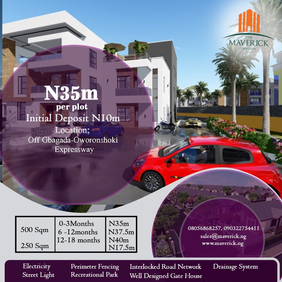 The Maverick Gbagada, 67 Serviced Plots of Land Now Selling! Investors, Agents, Cooperatives, Here is a Life Time Opportunity for You lindaikejisblog2
