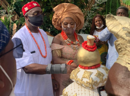 Photos from the traditional and court wedding of Senator Ben Obi and his lover, Chiaka