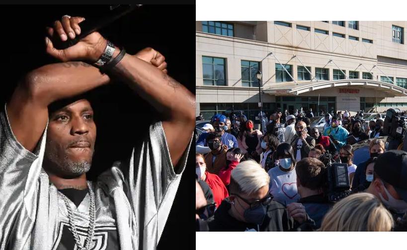 DMX's family holds vigil for the rapper outside New York hospital (video)