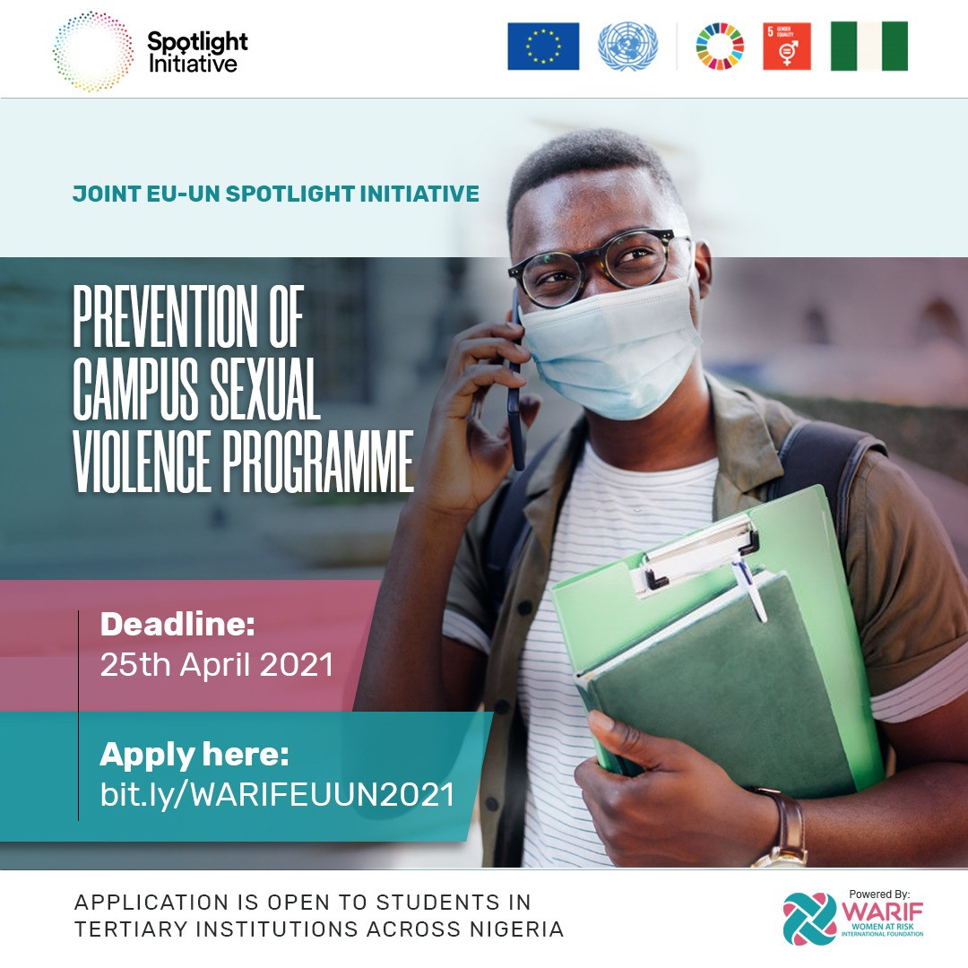 WARIF x Joint EU-UN Spotlight Initiative: Prevention of Campus Sexual Violence Program, Apply Now!