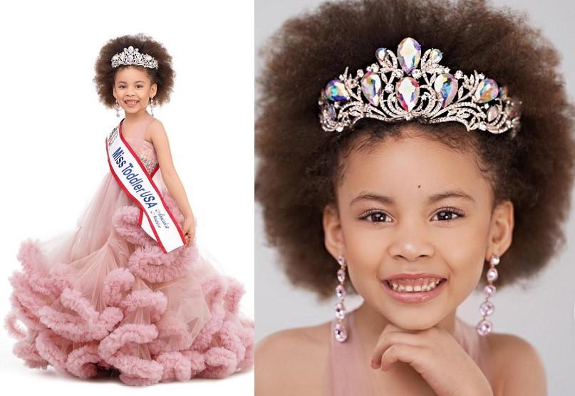 Meet the 5-year old Nigerian girl who won 'Miss Toddler USA 2021 (Photos)