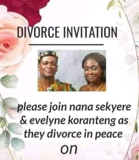 Couple sends out divorce invitation asking their friends to join them as they 'divorce in peace""