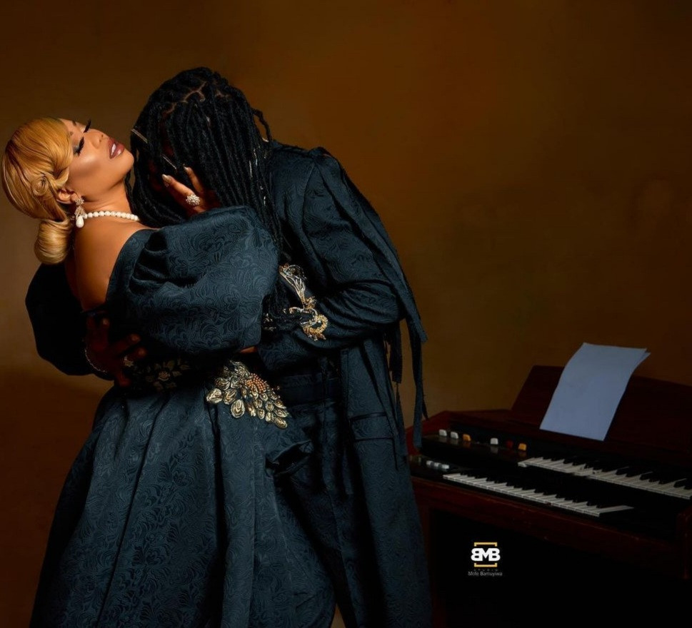 """""""My choice comes with peace of mind"""" Toyin Lawani releases pre-wedding photos with her man, Segun Adebayo"""