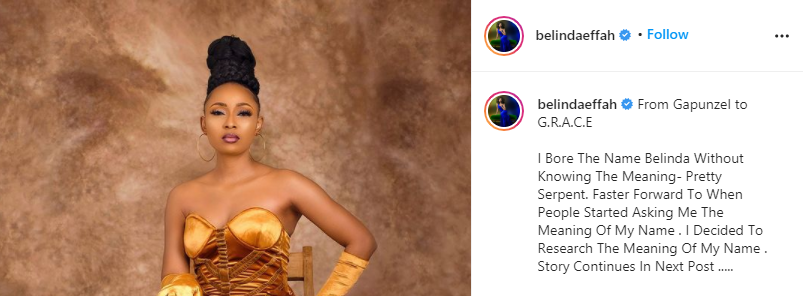 My step brother renamed I and my sisters - Actress Belinda Effah says as she changes her name to Grace-Charis Bassey 2