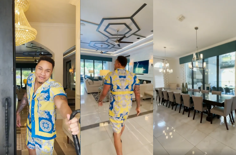 Power star, Rotimi shows off a magnificent rented home where his fiancee, 16 of his best friends, and family members will be spending 6 days with him to celebrate his album (video)