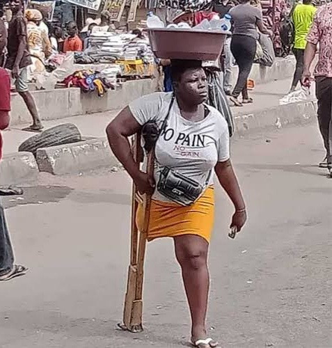 Amputee hawker who went viral for selling water despite disability transforms into a 'beauty queen' for 27th birthday (photos)