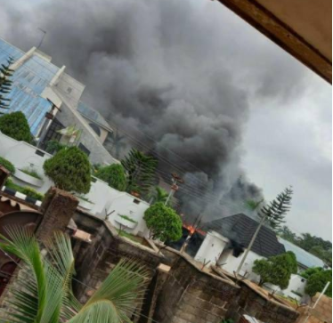 Gunmen raze Governor Hope Uzodinma's country home, kill two of his security aides (videos)