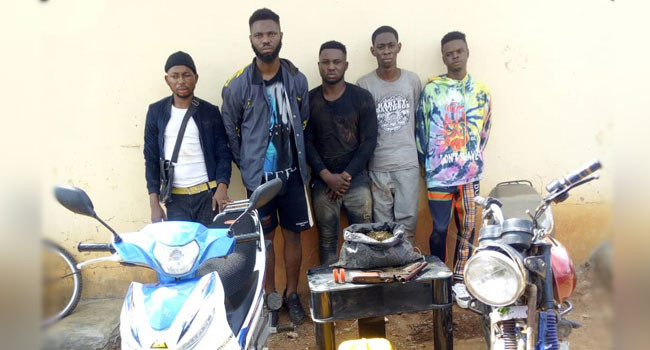 Five suspected cultists arrested at initiation ground in Ekiti