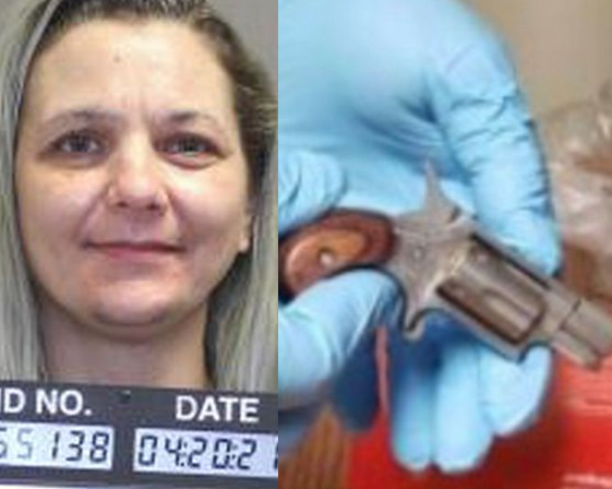 Woman hides loaded gun in her vagina before smuggling it into prison