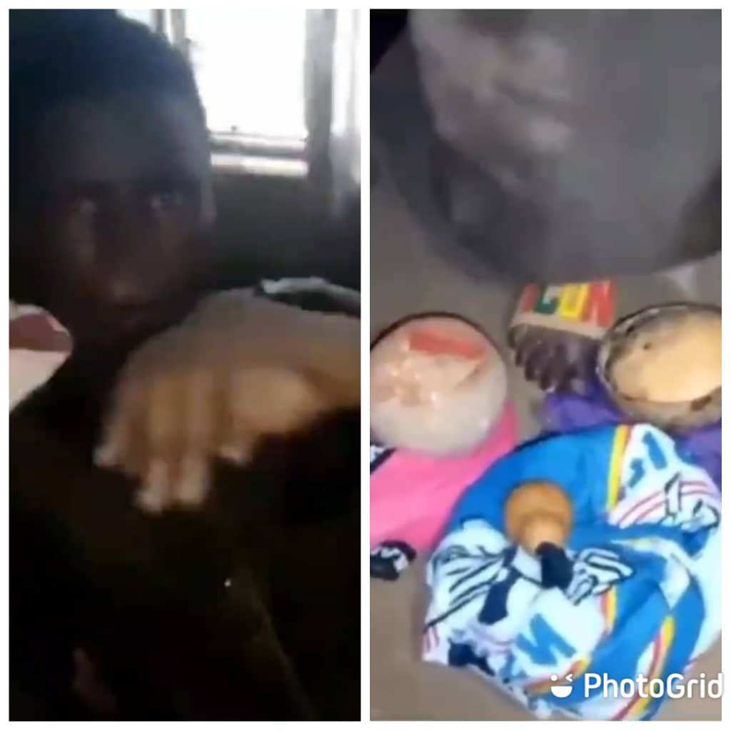 Ekiti state university student apprehended while allegedly trying to use his roommate for money ritual (video)