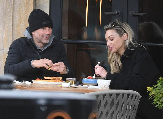 Ryan Giggs enjoys breakfast with new model lover as he's spotted for the first time after court appearance for 'attacking and controlling his ex-girlfriend' (photos)