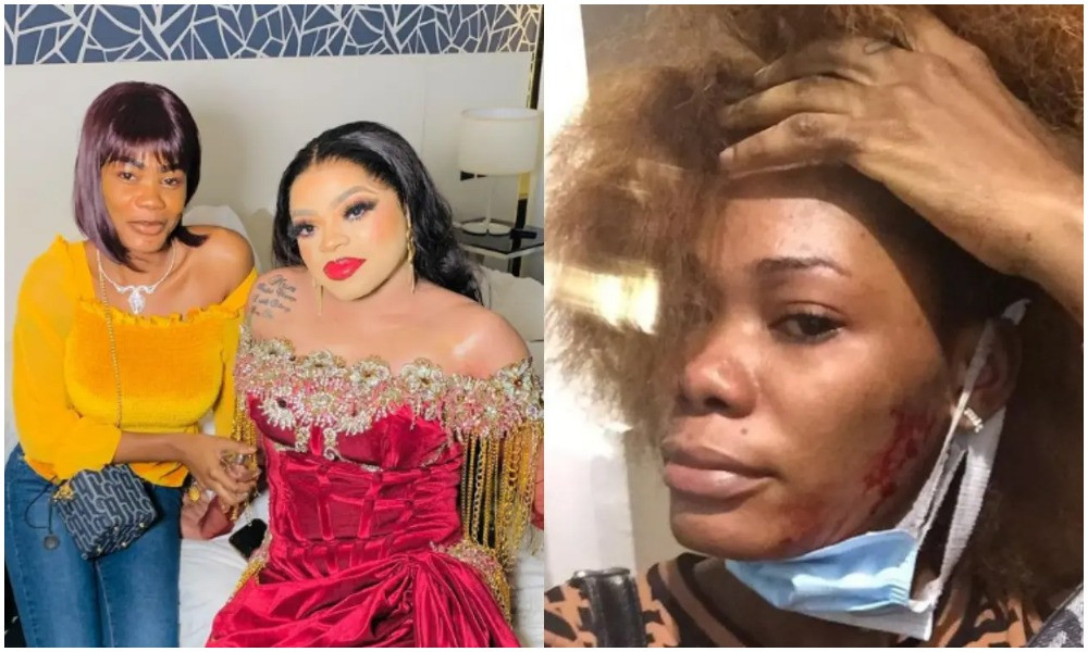 You want to be girl so badly but your dick is still under you - Ivorian lady who Bobrisky took in after she tattooed his name on her body accuses him of assaulting her