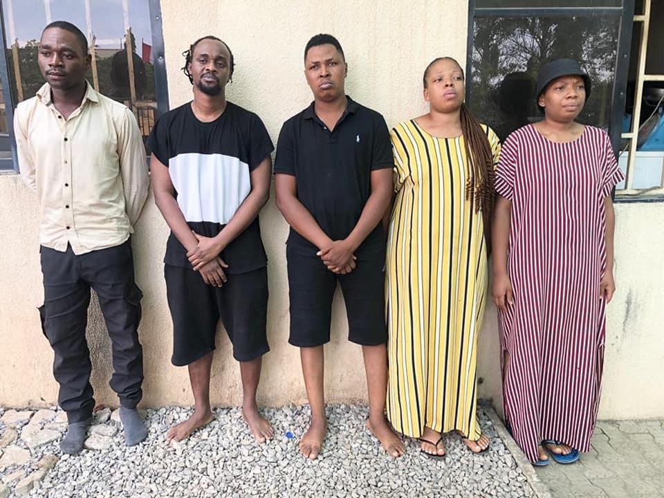 Five arrested as NDLEA busts online drug trafficking cartel in Abuja