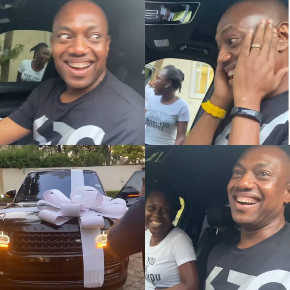 Public speaker Fela Durotoye receives Range Rover from his mentees ahead of his 50th birthday (video)