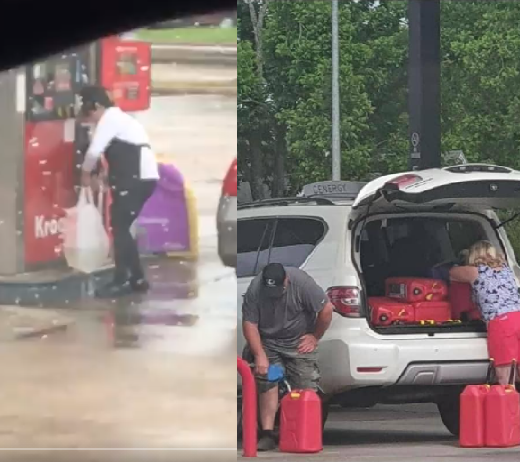 US citizens buying fuel in plastic bags and kegs as some US states suffer fuel scarcity (photos/video)