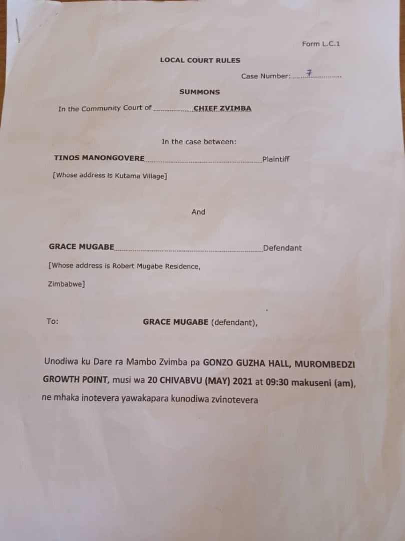Former Zimbabwean First Lady, Grace Mugabe summoned for 'improperly' burying her husband Robert Mugabe 2